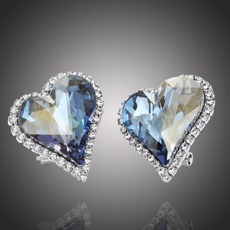 Náušnice Swarovski Elements True Love - srdíčko