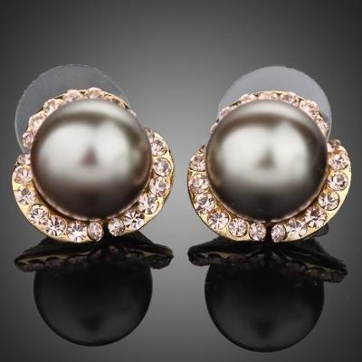 Náušnice s perlou Maya