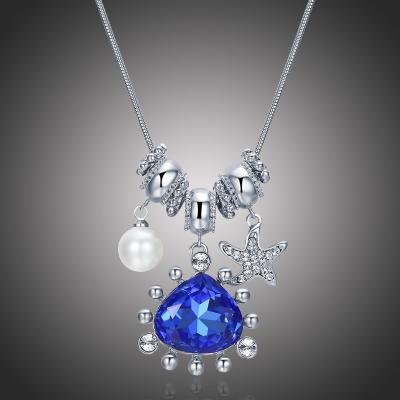 Exkluzivní náhrdelník Swarovski Elements Azzuro