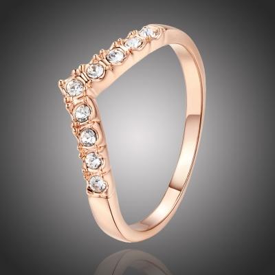 Pozlacený prsten Padovan se zirkony