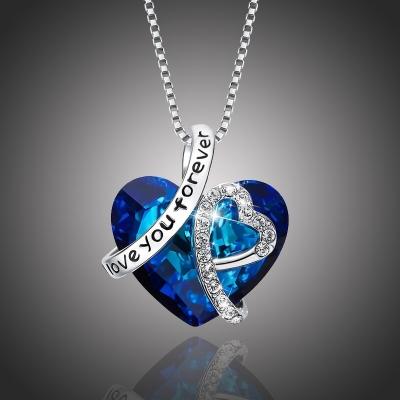 Exkluzivní náhrdelník Swarovski Elements Love You Forever - srdíčko