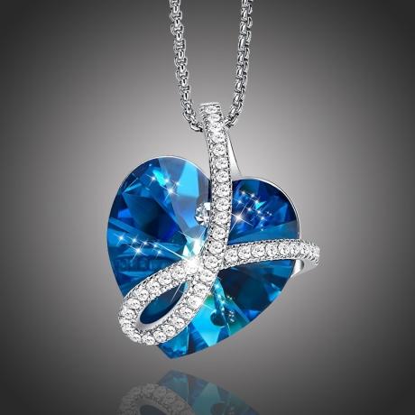 Exkluzivní náhrdelník Swarovski Elements Romantic Love - srdíčko