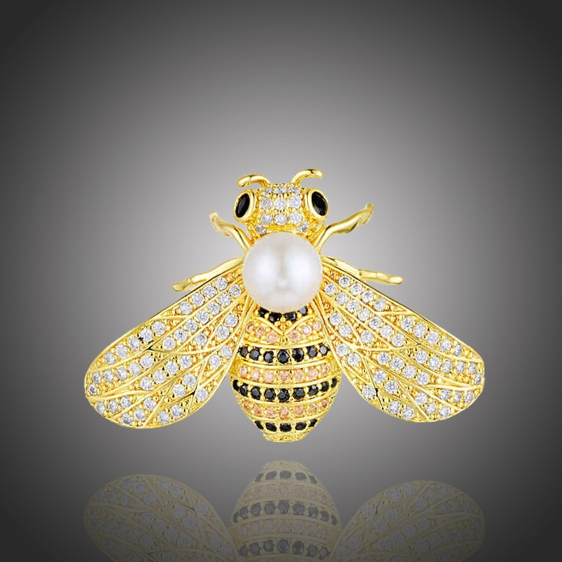Brož Swarovski Elements Gabriella - včela