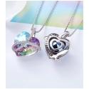 Exkluzivní náhrdelník Swarovski Elements Romantic Love Violet - srdíčko