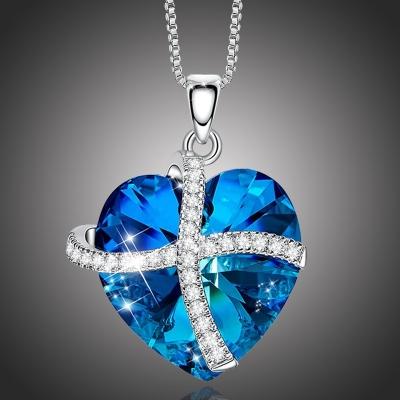 Exkluzivní náhrdelník Swarovski Elements Francesca - srdíčko