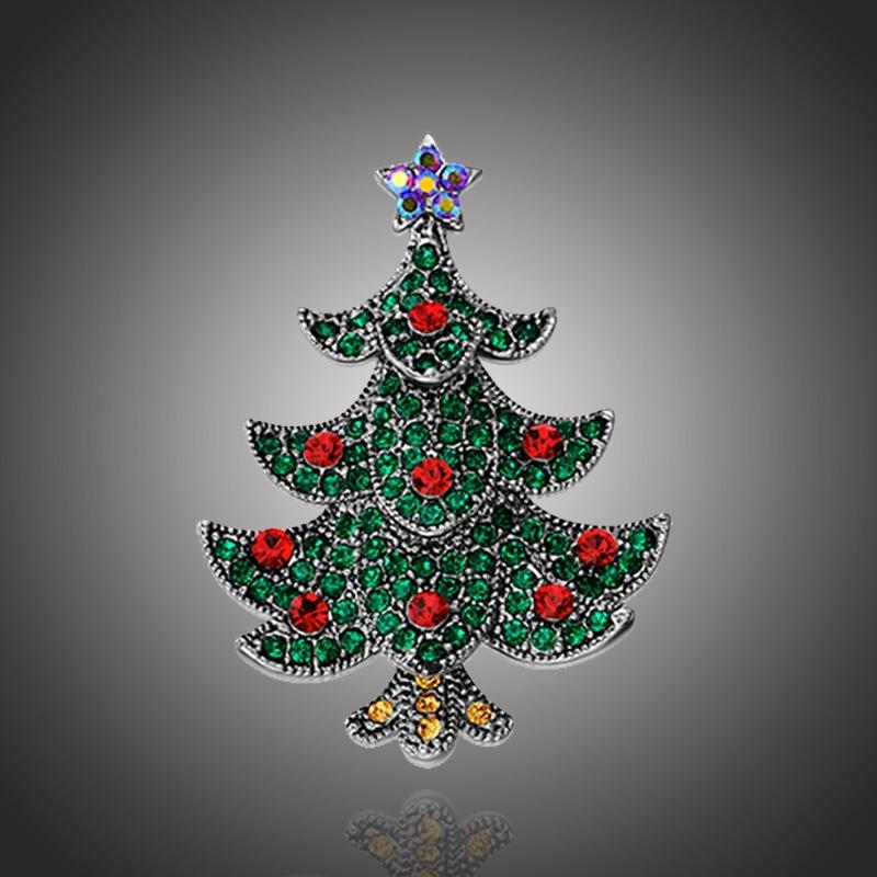 Vánoční brož Swarovski Elements Alberello - vánoční stromek