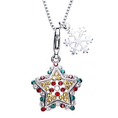 Exkluzivní vánoční náhrdelník Swarovski Elements - vánoční hvězda