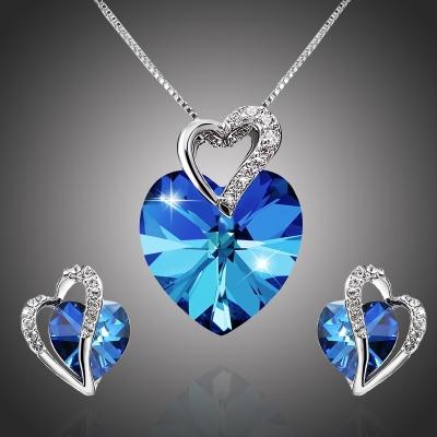 Souprava náhrdelníku a náušnic Swarovski Elements Di Antonia - srdíčko