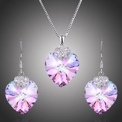 Souprava náhrdelníku a náušnic Swarovski Elements D´Angelo - srdíčko