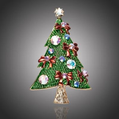 Vánoční brož Swarovski Elements Profetta - vánoční stromeček