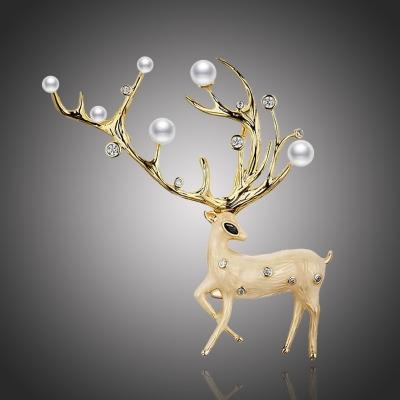 Exkluzivní brož Swarovski Elements Sacred Deer - jelen