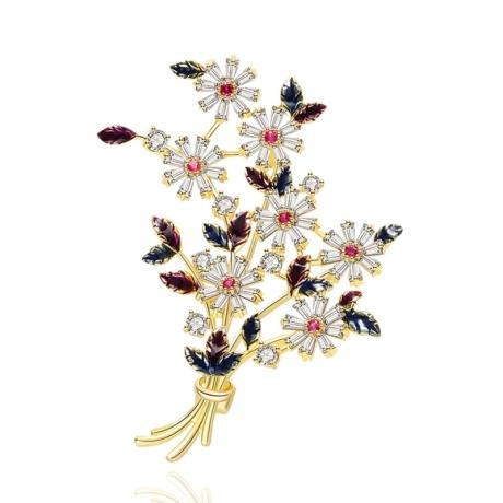 Exkluzivní brož Swarovski Elements Acconcia  - puget kvítí