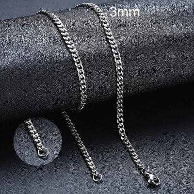 Pánský ocelový náhrdelník Erich, 3 mm řetízek - chirurgická ocel
