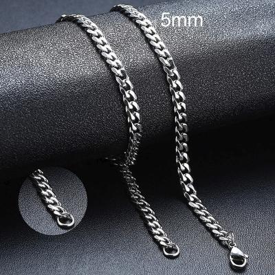 Pánský ocelový náhrdelník Erich, 5 mm řetízek - chirurgická ocel