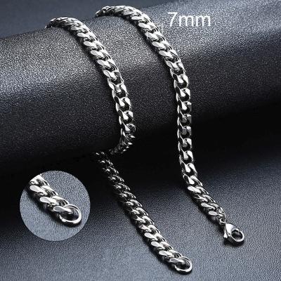 Pánský ocelový náhrdelník Erich, 7 mm řetízek - chirurgická ocel