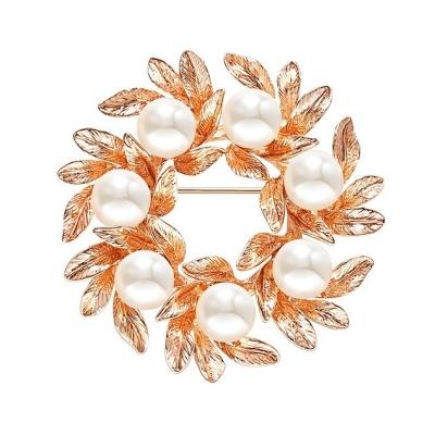Exkluzivní vintage brož s perlou Amalia