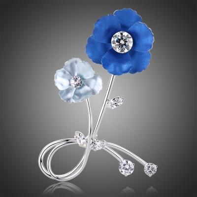 Brož Swarovski Elements Falca - květina