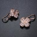 Náušnice Swarovski Elements Cinzia Rose - květina