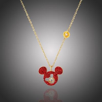Exkluzivní náhrdelník Swarovski Elements Disney kolekce Mickey Mouse