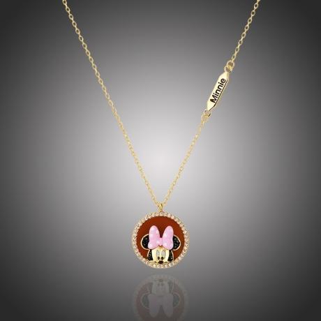 Exkluzivní náhrdelník Swarovski Elements Disney kolekce myška Minnie