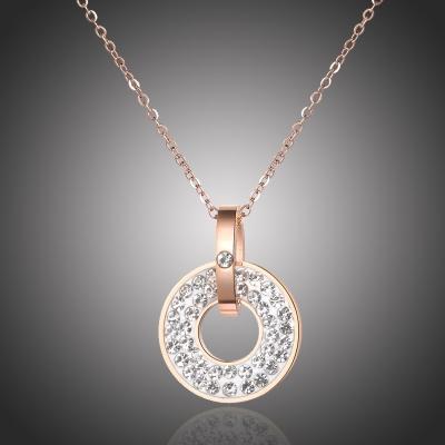 Náhrdelník Monica - chirurgická ocel, krystaly Swarovski
