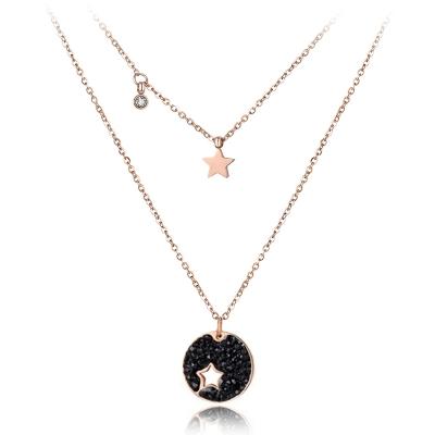 Náhrdelník Sabina - chirurgická ocel, krystaly Swarovski, hvězda
