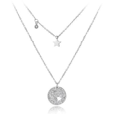 Náhrdelník Enita - chirurgická ocel, krystaly Swarovski, hvězda