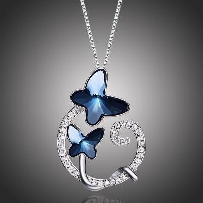 Náhrdelník Swarovski Elements Crystal Butterfly - motýl