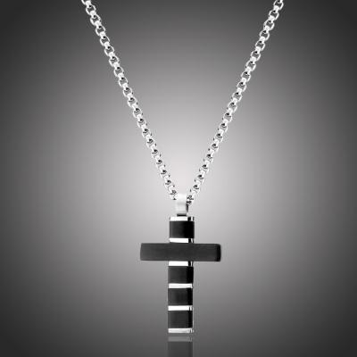 Pánský ocelový náhrdelník Xavier - chirurgická ocel, kříž