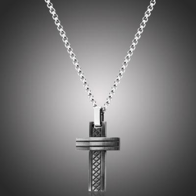 Pánský ocelový náhrdelník Patrick - chirurgická ocel, kříž