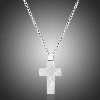 Pánský ocelový náhrdelník Efraim - chirurgická ocel, kříž