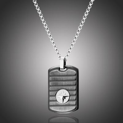 Pánský ocelový náhrdelník Dominique - chirurgická ocel, větrná růžice