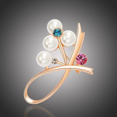 Brož Swarovski Elements Tucia s perlou