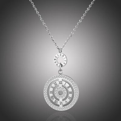 Ocelový náhrdelník se zirkony Maceo - chirurgická ocel