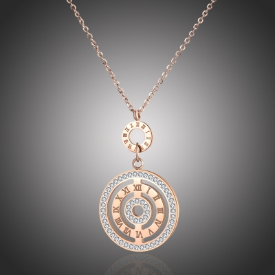 Ocelový náhrdelník se zirkony Maceo Gold - chirurgická ocel