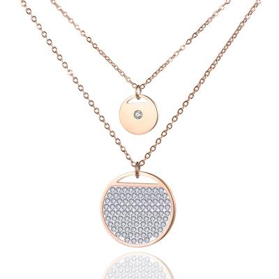 Dvojitý ocelový náhrdelník Acciai - chirurgická ocel