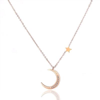 Ocelový náhrdelník se zirkony Michael - chirurgická ocel