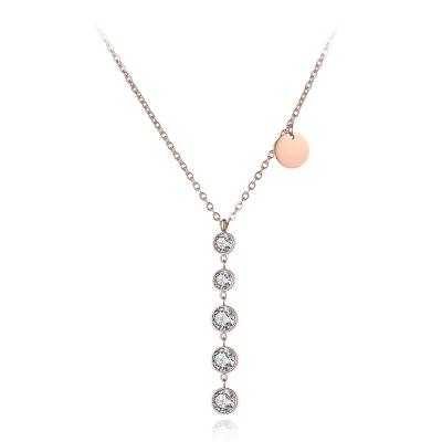 Ocelový náhrdelník se zirkony Rizzo - chirurgická ocel