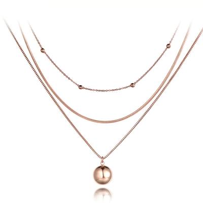 Trojitý ocelový náhrdelník Frederico - chirurgická ocel