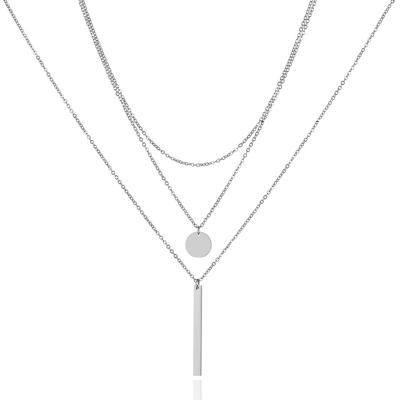 Trojitý ocelový náhrdelník Francisco - chirurgická ocel