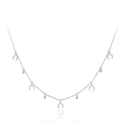Ocelový náhrdelník se zirkony Susan - chirurgická ocel