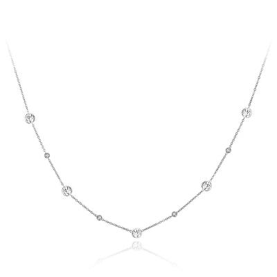 Ocelový náhrdelník se zirkony Sabrina - strom života