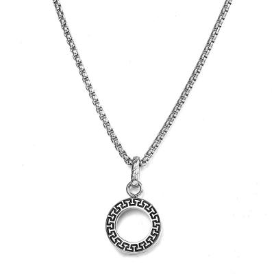 Pánský náhrdelník Francoa - ocelový přívěsek