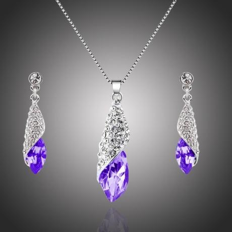 Souprava náhrdelníku a náušnic Swarovski Elements Elegance