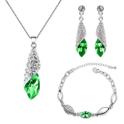 Souprava Swarovski Elements Elegance Smaragd