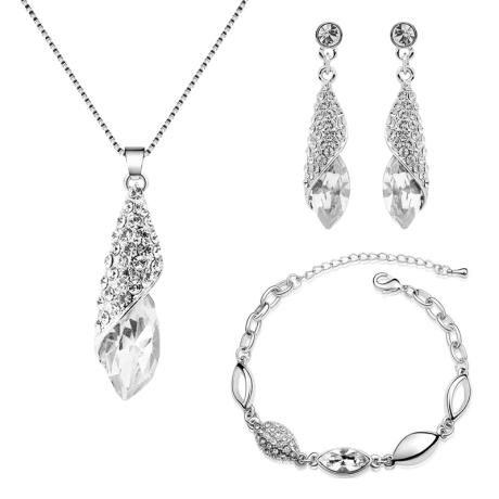 Souprava náhrdelníku, náušnic a náramku Swarovski Elements Elegance