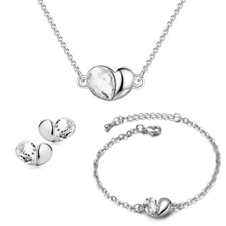 Souprava náhrdelníku, náušnic a náramku Heart - srdíčko