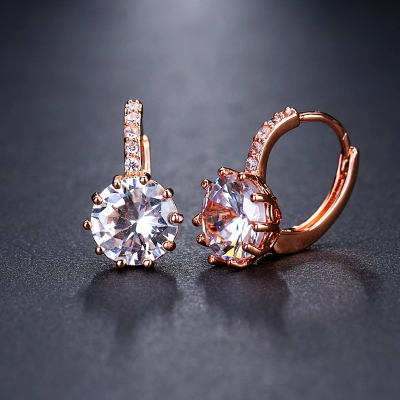 Náušnice Swarovski Elements Bernadette Rose Gold