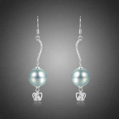 Náušnice s perlou a zirkony Caliope
