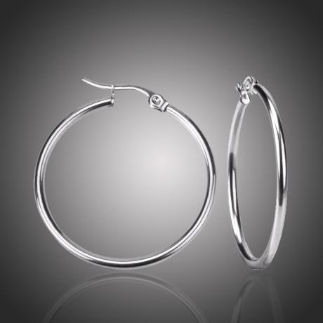 Ocelové náušnice Noema - kruhy, chirurgická ocel, průměr 6 cm